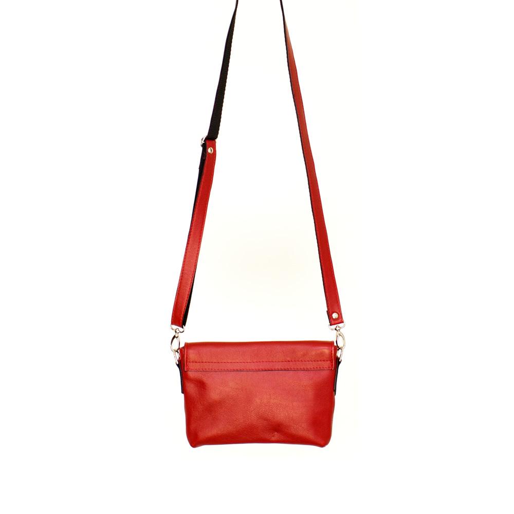 geweldige prijzen nieuw ontwerp goede service Handgemaakte leren schoudertasje Alex | rood