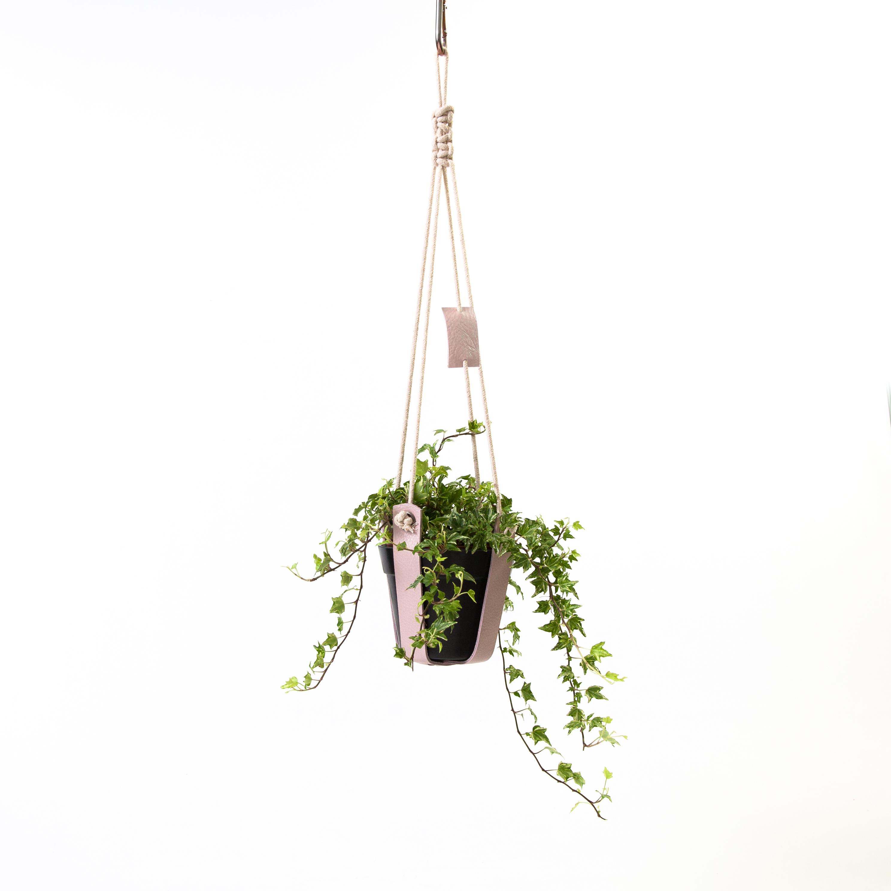 plantenhanger-leer-roze