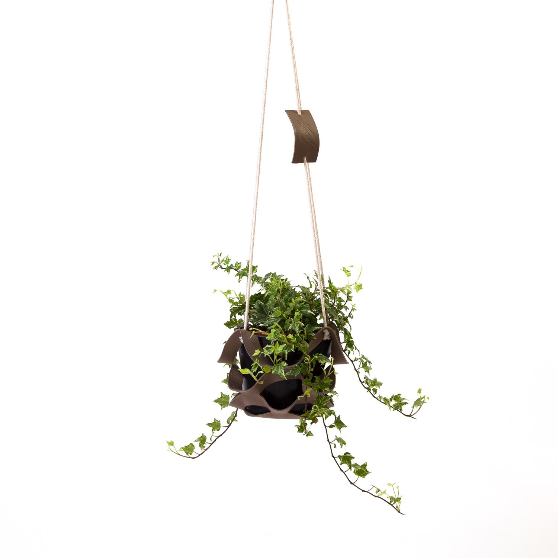 plantenhanger-leer-bruin